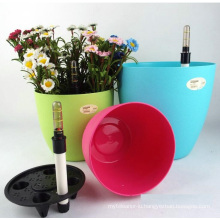 (BC-F1049) Fashionable Design Plastic Self-Watering Flower Pot