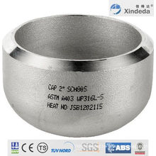 Pipe Fittings Stainless Steel Cap with CE