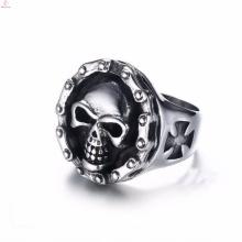 Оптовая нержавеющей стали выгравированы ювелирные изделия готический кольца черепа