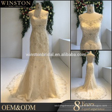 high-quality beads decoration mermaid wedding dress real picture