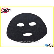 Черный черный черный вискоза КУПРО шелковая маска для лица