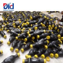 Supplier Dn25 Teflon Ktz Titanium Stainless Steel Handle Full Welded Ball Valve Gasdistributor