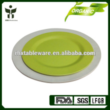 natural living bamboo plate