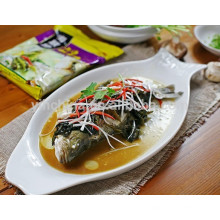 Condimento de peixe com tempero Haidilao em horário de verão