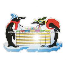 marcador de pizarra blanca, niños niños maestros de escuela programar tablero blanco, horario diario