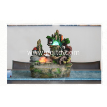 Stone with poly resin office decoration water fountain