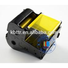 Ruban jaune de cartouche de ruban compatible 60mm * 130m PP-RC3RDF pour imprimante PP-1080RE