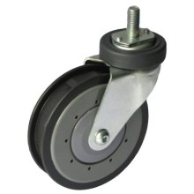 Shopping Trolley Fixed PU Caster (One Groove)