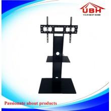 Cadre en acier et support de télévision en verre trempé de 12 mm (stock)