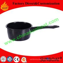 1qt Carbon Steel Enamel Milk Pot Saucepan