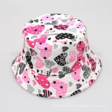 Kids Unisex Fashion Wholesale Cheap Floral Printing Blank Bucket Hats