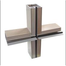 Extrusão de alumínio para cortina de parede