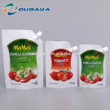Embalagem personalizada de molho de alho e pimenta com bico