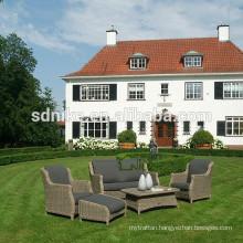 2014 the latest design hot sale modern rattan low price outdoor garden sofa