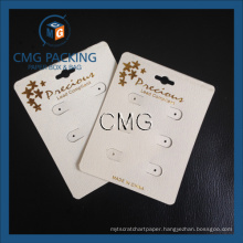 Beige Plastic Golden Hot Stamping Earring Card (CMG-104)
