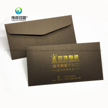 Custom Fancy Brown Paper Invitation Card Promotion Envelope