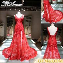 Alibaba tienda en línea nueva moda sin mangas de encaje sin tirantes de encaje de las mujeres de la aduana 2016 importación vestido de novia de venta para nupcial