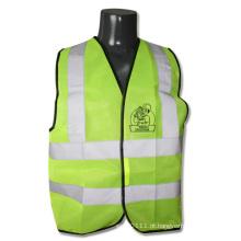 Colete reflexivo de segurança de armazém de construção de alta visibilidade de cal verde (yky2825)