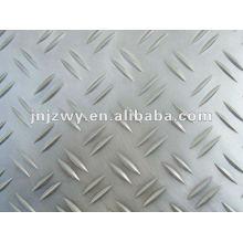 1100 plaques en aluminium gaufré 8mm / anti-glissement