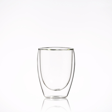 Wholesale Elegant coffee cup 350ml High Borosilicate Double Wall Glass Cup