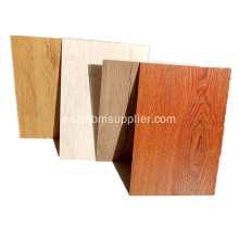 Tableros decorativos ignífugos de pared de grano de madera MgO