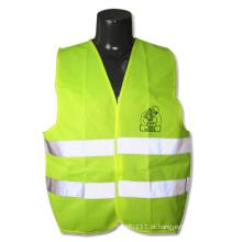 Segurança de alta visibilidade de néon verde tira visibilidade colete de corrida (yky2821)