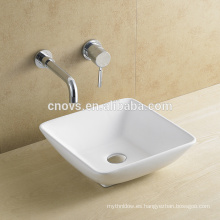 Diseño popular Square Shape Hot Lavain Sinks de cerámica