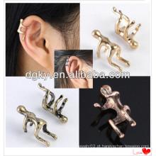 Escalada Homem Naked Climber Ear Cuff Cartilagem Brincos Para Helix
