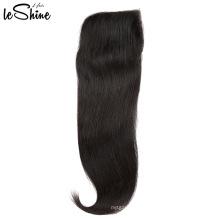 Wholesale Top  Regular 4*4 Brazilian Human Hair Closure With Mink Weave Bundle Overnight Shipping