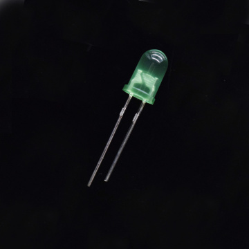 5mm Diffused Green LED 17mm Short-Pin 530nm LED