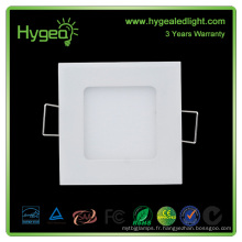 China Square LED Panel Light Price Vente en gros 9w ultra minces panneaux led SMD2835 Led Panel Light