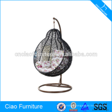 Synthetic Outdoor PE Rattan Round Wicker Swing Chair Furniture