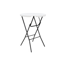 80CM Plastic Folding Round Table 110CM Height Plastic