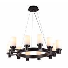 Elegance Steel Glass Black Candle Holder Chandelier Pendant Light (MD4242R-12)