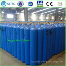 Cilindro de oxígeno de acero sin costura de alta presión 40L (ISO9809-3)