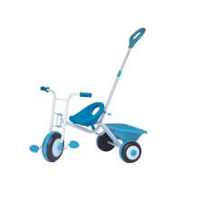 Детский трицикл для малышей с нажимной ручкой и корзиной