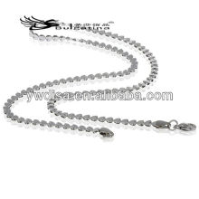 Heart Beads Chain Necklace Making Stainless Steel Necklace Snake Men's Chain 3.5 mm 45cm Length