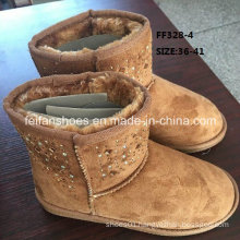Latest Injection Boots MID-Cut Diamond Snow Boots Warm Winter Boots Stock Shoes (FF328-4)