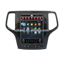 ¡Cuatro nucleos! DVD del coche de Android 6.0 para JEEP GRAND CHEROKEE con pantalla capacitiva de 10.4 pulgadas / GPS / Mirror Link / DVR / TPMS / OBD2 / WIFI / 4G