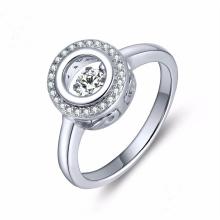 Tanzender Diamant-Schmucksache-925 silberner Ring-Mikroeinstellung