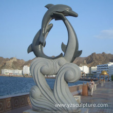 Marble Dolphin Statue For Outdoor Decoration