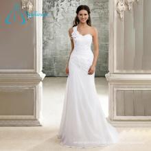 A-Line Pleat Crystal Flower Perfect Chiffon Elegant Wedding Dresses