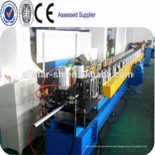 Hydraulische schneiden Runde Fallrohr Profiliermaschine, Stahlrohr roll Umformmaschine