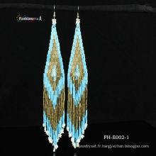 Boucles d'oreilles de perles de charme de personne de 2013 à la main