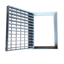 Trench Drain Cover Steel Grating Hot Dipped Galvanized Drain Channel Floor with Frame
