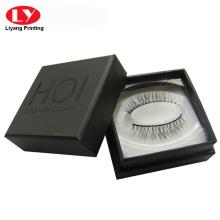kundenspezifische Wimpernverpackung aus schwarzem Karton
