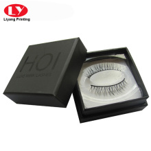 custom black cardboard eyelash box packaging