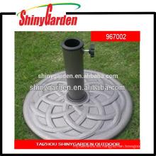 base de paraguas redonda de resina