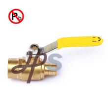 Горячая вковка бессвинцовый латунный шариковый клапан для PEX трубы(xMale ПЭС)