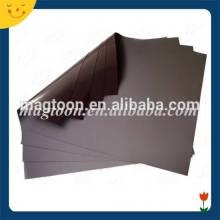 Permanent soft rubber magnet sheet